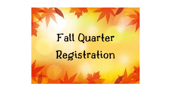 Fall 2019 Registration Information