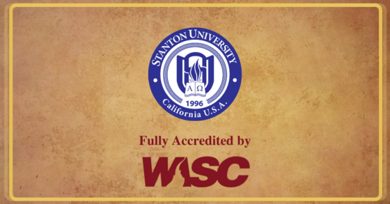 Stanton University is Now Accredited!